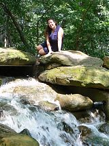 Darlene at waterfall